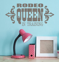 Rodeo Queen in Training Wall Decal Quote Western Girl Vinyl Stickers-Castle Gray