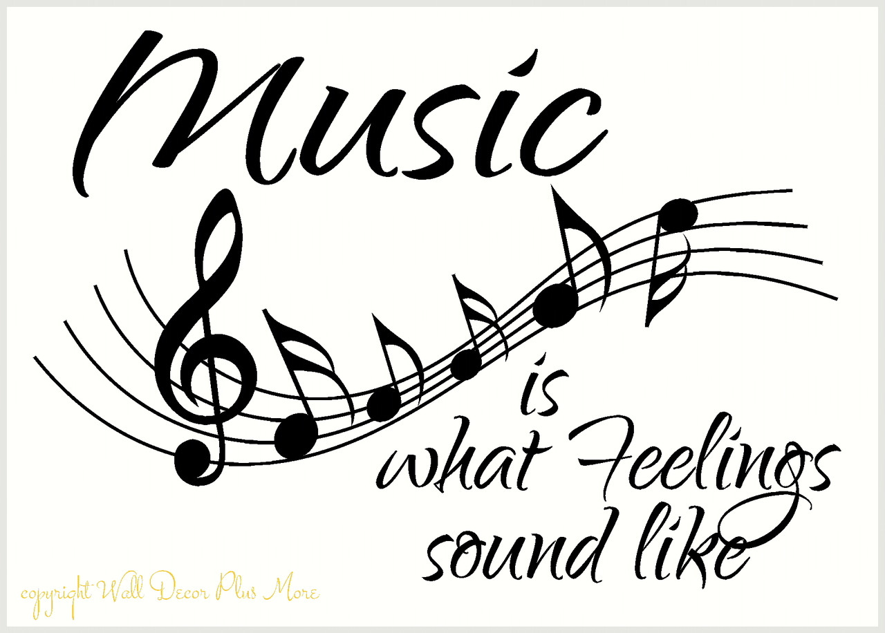 Music Staff Wall Decal With Quote Vinyl Lettering Wall Art