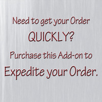 Expedite your Wall Decal order with this Add-on item