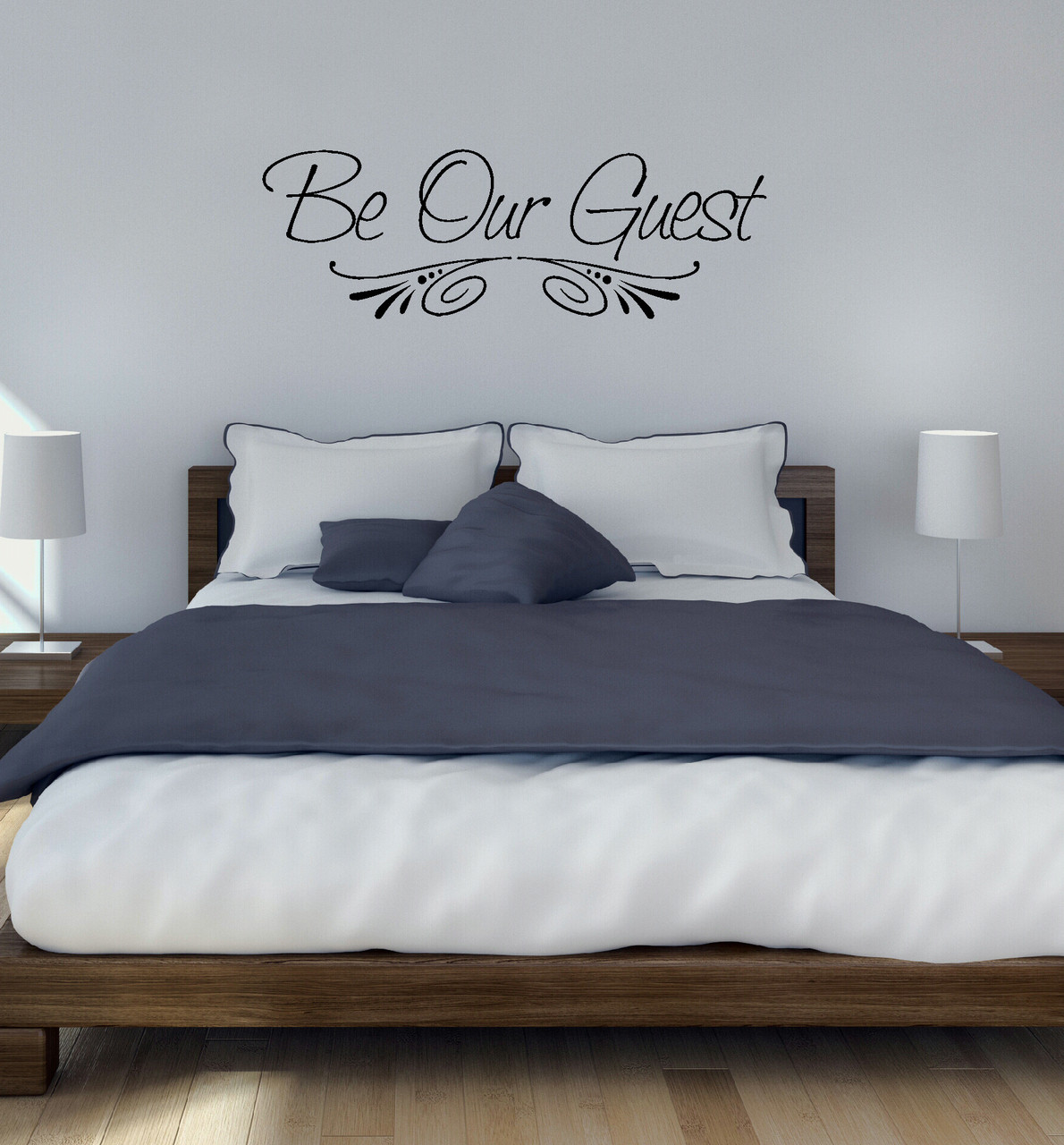 Be our guest wall decal sticker for home decor guest room wall decal sticker for wall decor black loading zoom amipublicfo Image collections