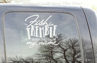 Car Truck Window Decal Fishing Fish Tremble Vinyl Sticker Humor