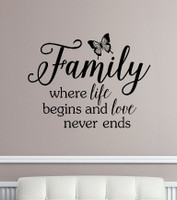 Family Wall Decals Quotes Vinyl Sticker Letters Sayings Home Decor