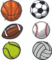 Sports Balls Vinyl Sticker Boys Fabric Repositionable Wall Decal Art