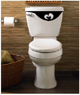 Toilet tank eyes funny vinyl sticker for the toilet - Decoration toilette ...
