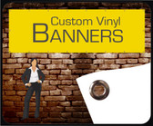 Available from 2' x 2' to 10' x 50', Our indoor/outdoor banners are made from high grade, 1000 x 1000 denier, extremely durable 13 oz. vinyl material, printed in full-color. Banners are a simple yet highly effective way of promoting your message. Our vinyl banners come in a variety of different sizes and are great for any sales event or occasion. Your banners will arrive to you completely finished with hems and grommets in just a couple of days. Your banners can be printed in your choice of either landscape or portrait orientation.
