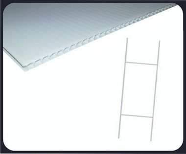 "This Sturdy Step stake is much stronger than the economy step stakes that are usually sold by others. Recommended for corrugated signs up to 24"" x 18"". A second stake can be inserted at a right angle to the sign for more rigidity. This stake offers a reinforced bottom specifically designed for hard ground"