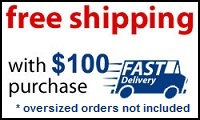 Free ground shipping with purchases over $100 and fast delivery
