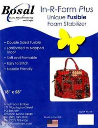 Double Sided Fusible Foam Stablizer, laminated to napped tricot, soft and formable, easy to stitch, needle friendly