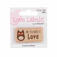 Labels - Owl You Need Is Love Iron-on Lovelabels - 1-7/8in x 1in