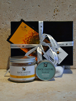 Relaxing aromatherapy bath salts gift pack