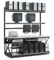 "Kendall Howard 72"" Lan Station W/ Full Bottom Shelf"