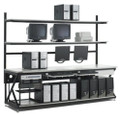 Network Rack With Full Bottom Shelf