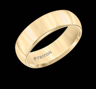 7mm Yellow Tungsten Carbide Bright Polish Domed Comfort Fit Band