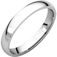 3mm Comfort Fit Low Dome Wedding Band