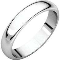 4mm Comfort Fit Low Dome Wedding Band