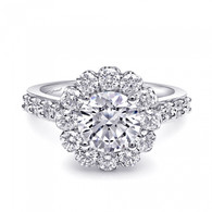 Round Halo Engagement Ring Setting (1.15ctw)