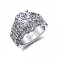 Unique Halo Bold Engagement Ring Setting (1.85ctw)