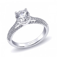 Split-Shank Engagement Ring Setting (0.26ctw)