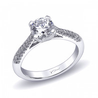 Micro Pave Engagement Ring Setting (0.29ctw)