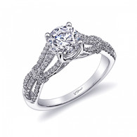 Unique Split-Shank Engagement Ring Setting (0.31ctw)
