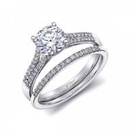 Split-Shank Engagement Ring Setting (0.15ctw) with matching Wedding Band