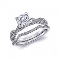 Braided Engagement Ring Setting (0.24ctw) with matching Wedding Band