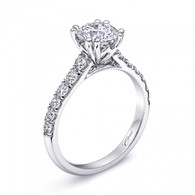 Fishtail Engagement Ring Setting (0.57ctw)