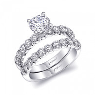 Engagement Ring Setting (0.55ctw) with matching Wedding Band
