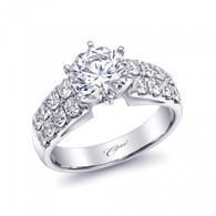 Fishtail Double Row Engagement Ring Setting (0.93ctw)