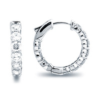 Classic Common Prong Hoop Earrings (3.80ctw)
