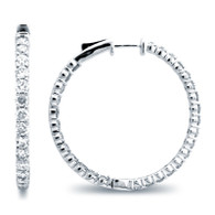 Classic Common Prong Hoop Earrings (4.02ctw)