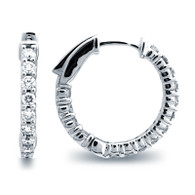 Classic Common Prong Hoop Earrings (1.49ctw)