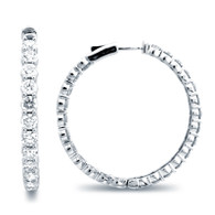 Classic Common Prong Hoop Earrings (9.35ctw)