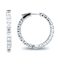 Classic Common Prong Hoop Earrings (5.56ctw)