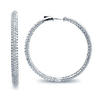 Micro Pave Hoop Earrings (6.27ctw)