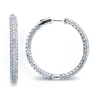Micro Pave Hoop Earrings (4.30ctw)