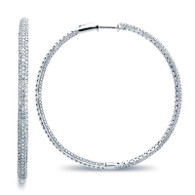 Micro Pave Hoop Earrings (3.48ctw)