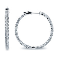 Micro Pave Hoop Earrings (2.05ctw)