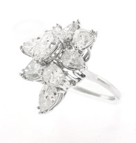 5.13ct Total Weight 9 Pear Shape Cocktail Ring