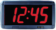 "Alpha Serial Clock - 4"" Red Characters, 17""W x 8""H"