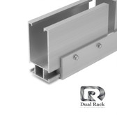 "Dual Rack - Heavy Rail - 204"" Clear"