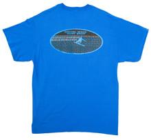 Barrel Digital Wave Shore Perspective with Surfer Arial Blue & Black Royal T-Shirt