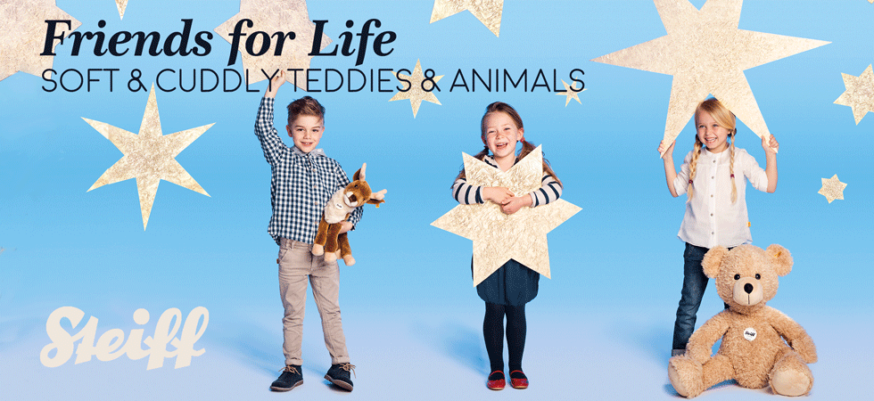 Give the Gift of Soft and Cuddly Steiff Teddy Bears and Animals