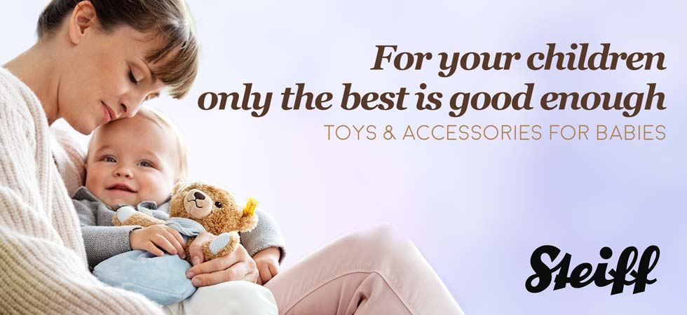 Shop Steiff Toys and Accessories for Babies