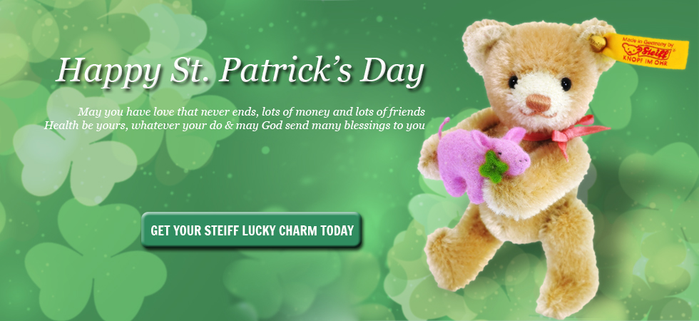Get your Steiff Lucky Charms for St. Patrick's Day