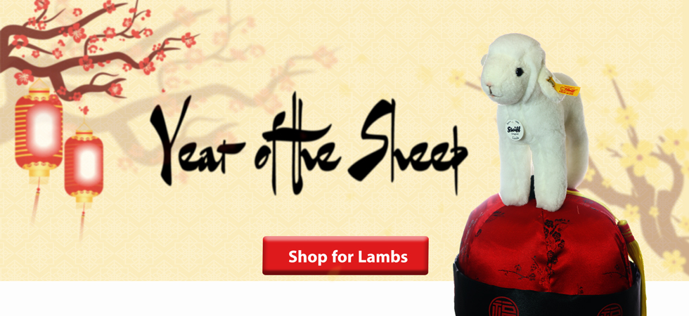 Happy Year of the Sheep Shop Steiff Lambs