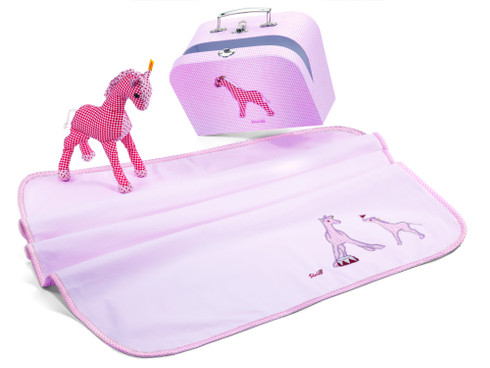 Steiff Little Circus Giraffe Baby Gift Set With Suitcase EAN 235979