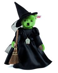 Wicked Witch Of the West Teddy Bear. EAN 682407 - Officially Licensed Steiff-Warner Brothers Wizard of Oz Collectible.
