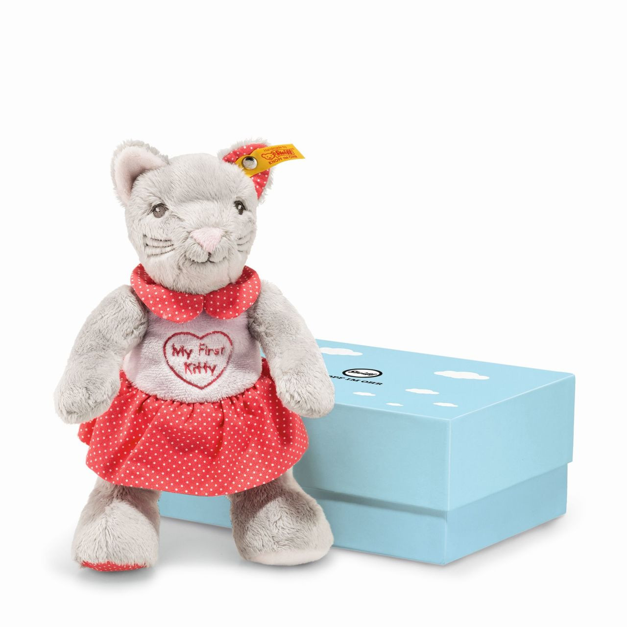Steiff 'My First Steiff' washable pink baby teddy bear in gift box Plush Baby Toys EAN 664717 Toys for Baby