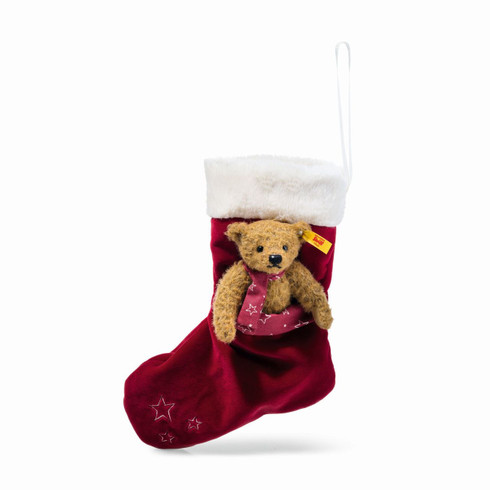 Teddy Bear With Christmas Stocking EAN 026751